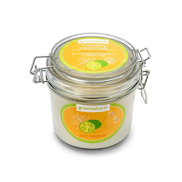 CANDELA SOIA -STOP ZANZARE- Limone Verde e Citronella - 200gr