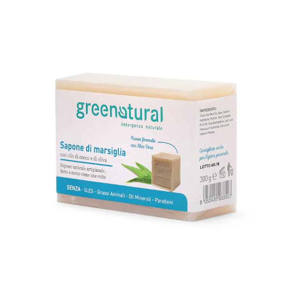 GREENATURAL Sapone di MARSIGLIA ALOE - 300 gr